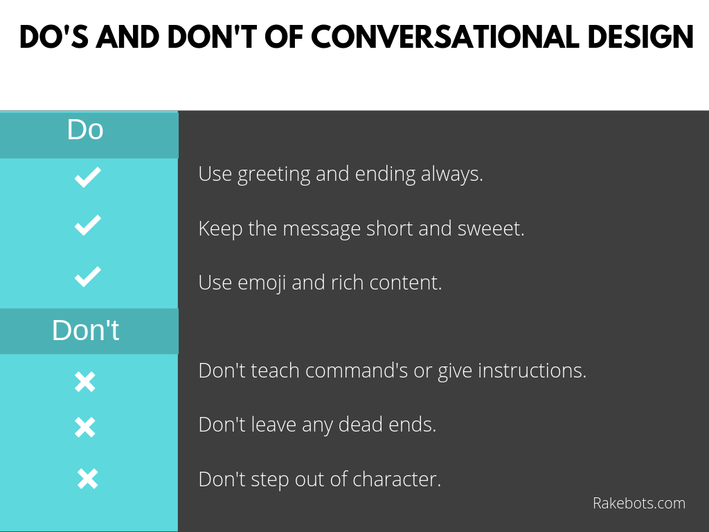 Do's and don't of conversation flow